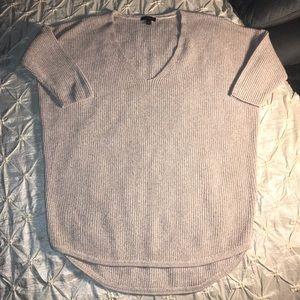 Express tan tight knitted half sleeve hi/lo